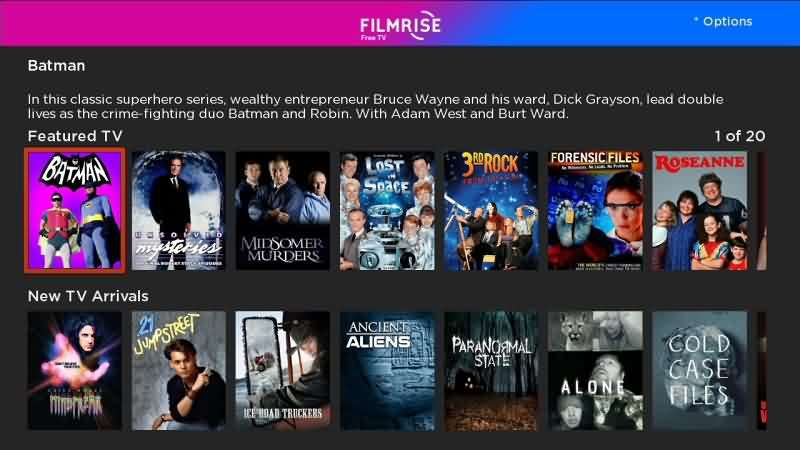 filmrise movie streaming apps for android and iphone