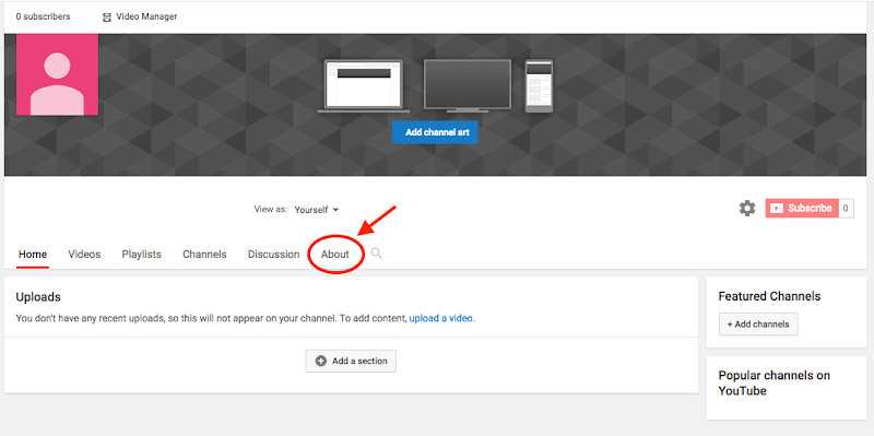 Optimising youtube channel